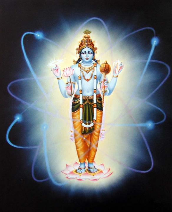 Lord Vishnu is the Super Soul within the atom