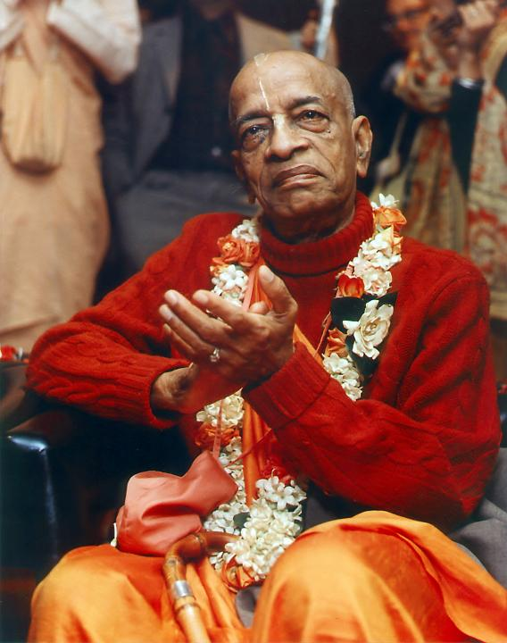 Srila Prabhupada Sitting on Chair
