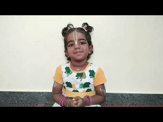 (Episode 1) Sri Shikshashtakam - by Yadhava Sreshta(4yrs), out of memory